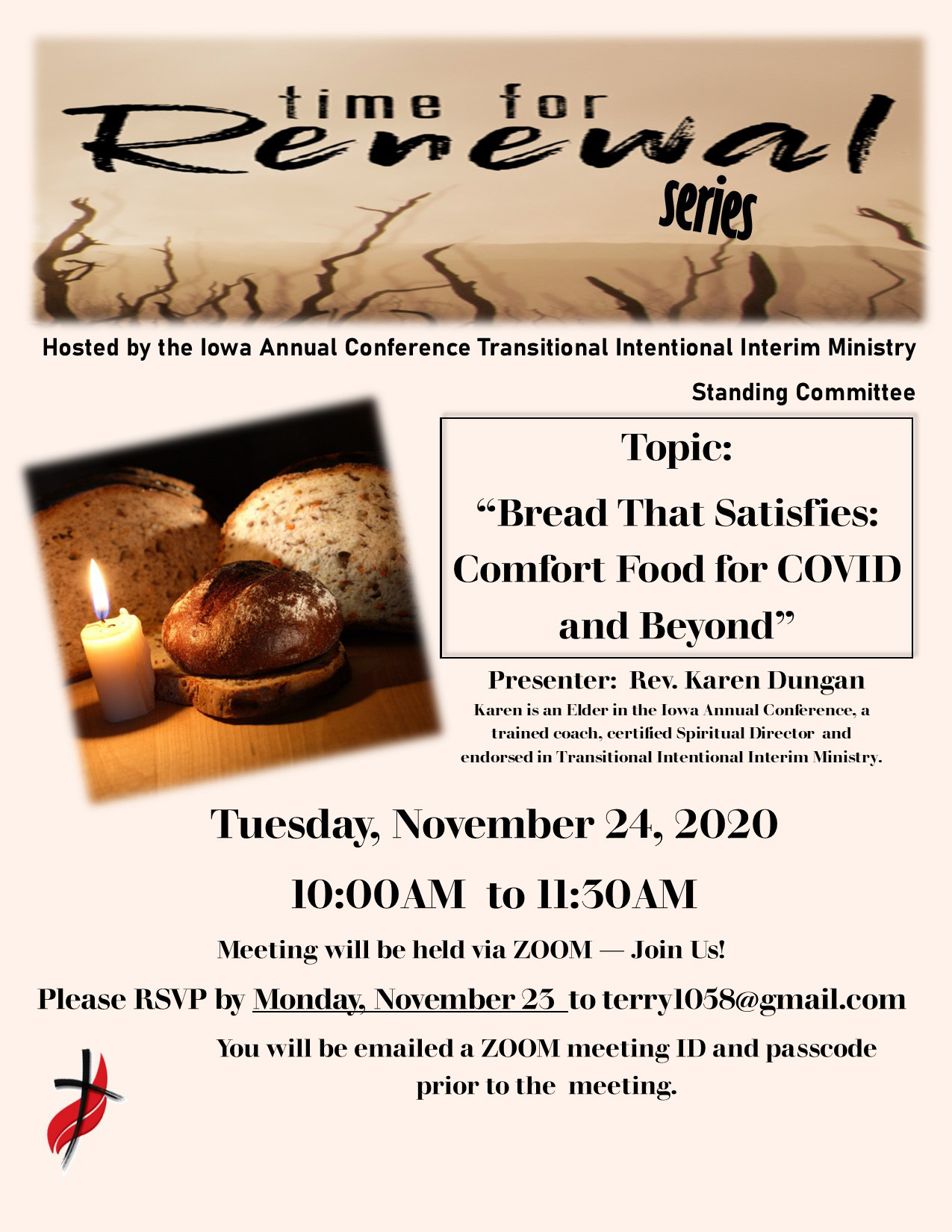 """A Video Conference on """"Bread that Satisfies: Comfort Food for COVID and Beyond"""" November 24, 2020"""